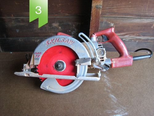 Circular saw. More often called a Skilsaw, this workhorse is portable and has endless uses. It cuts softwood, hardwood, concrete, stucco, wood, glass, ceramic tiles, brick and metals. Cut your wall openings, holes for skylights, wood beams, plywood and tops of fence posts with this tool. Be sure to use the correct blade for your project. Blade types are steel, high-speed steel (HSS), diamond, carbide-tipped and abrasive, and each has its own ability.