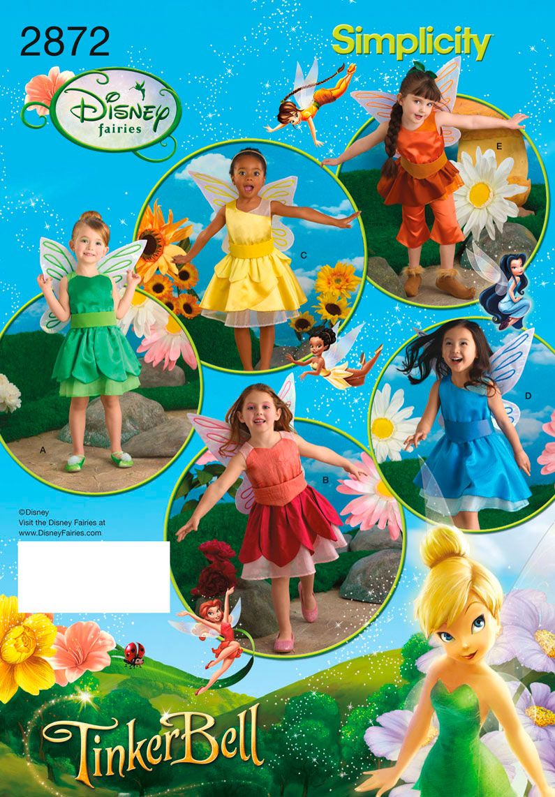 Child Tinker Bell; Disney Fairies sewing pattern 2872 Simplicity ...
