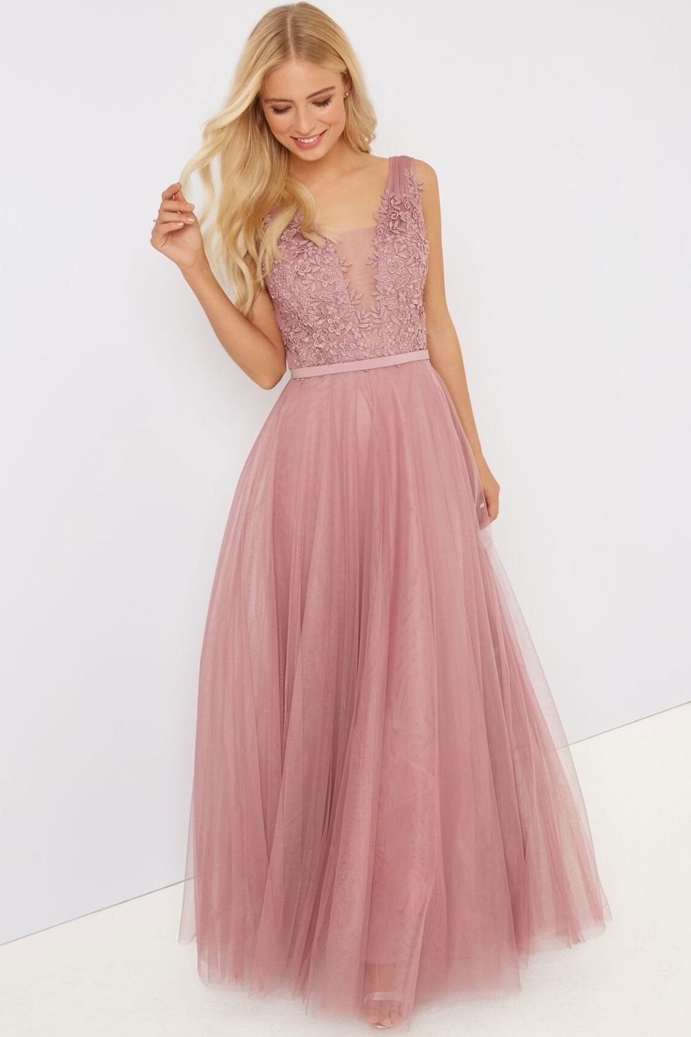 c48ca7c38bb Little Mistress Blush Applique Maxi