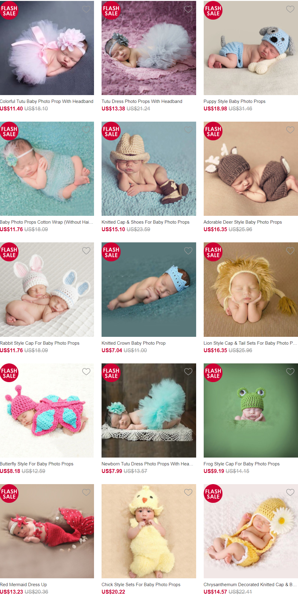BABY PHOTO PROPS Calladream is a professional online store which
