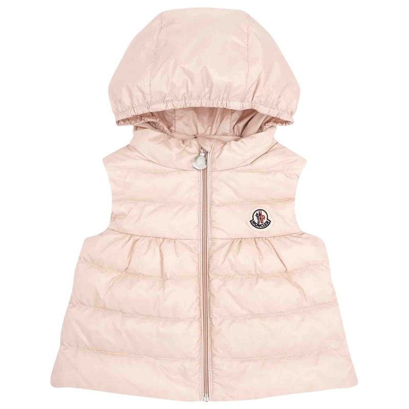 b74d52fd1 pink Plain Synthetic MONCLER Jacket & coat - Vestiaire Collective ...