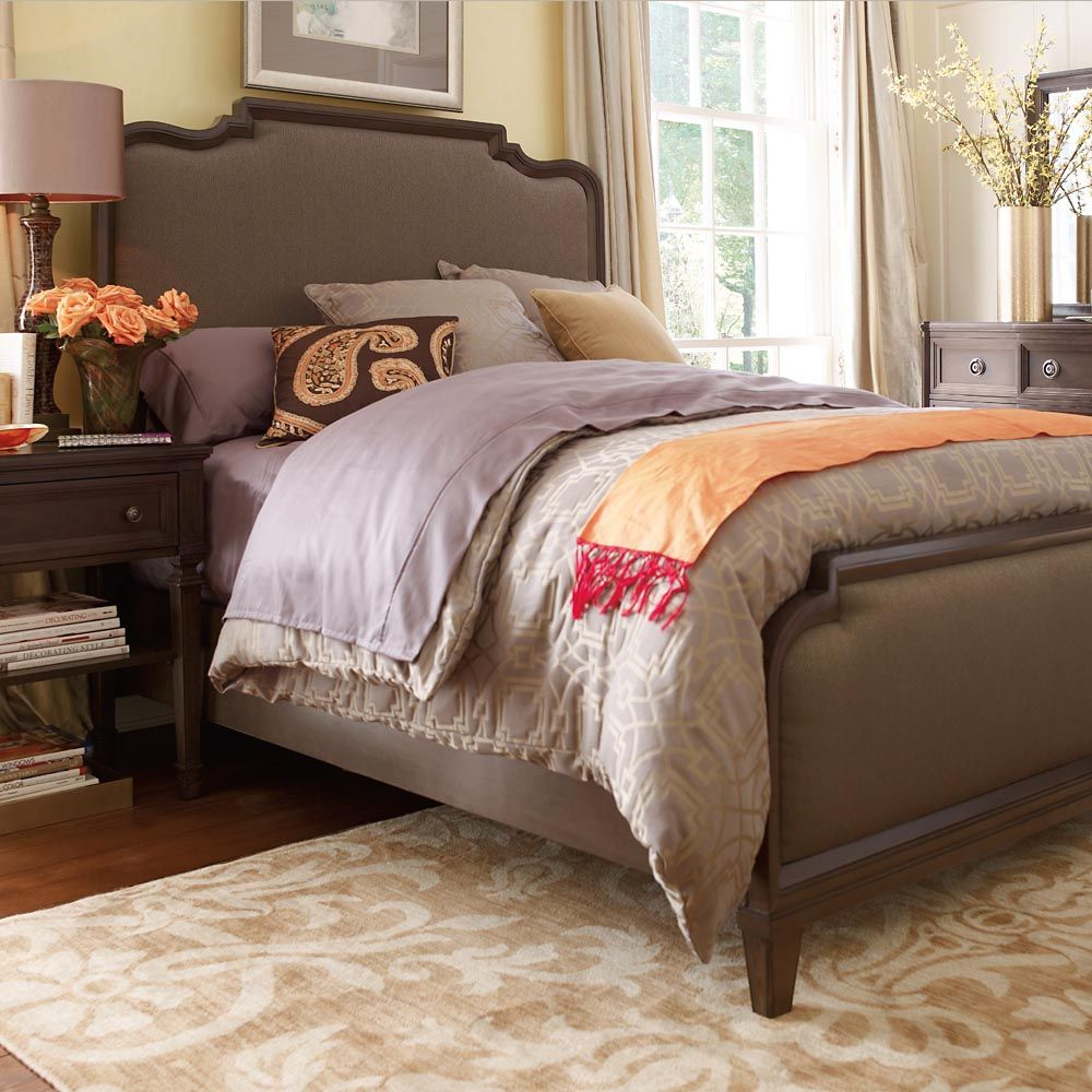 Meadowbrook Manor Upholstered Panel Bed Furniture, Home