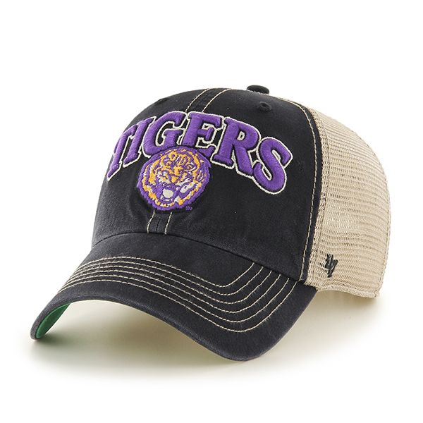 0adb7835a77f28 Louisiana State Tigers Lsu Tuscaloosa Clean Up Vintage Black 47 Brand  Adjustable Hat