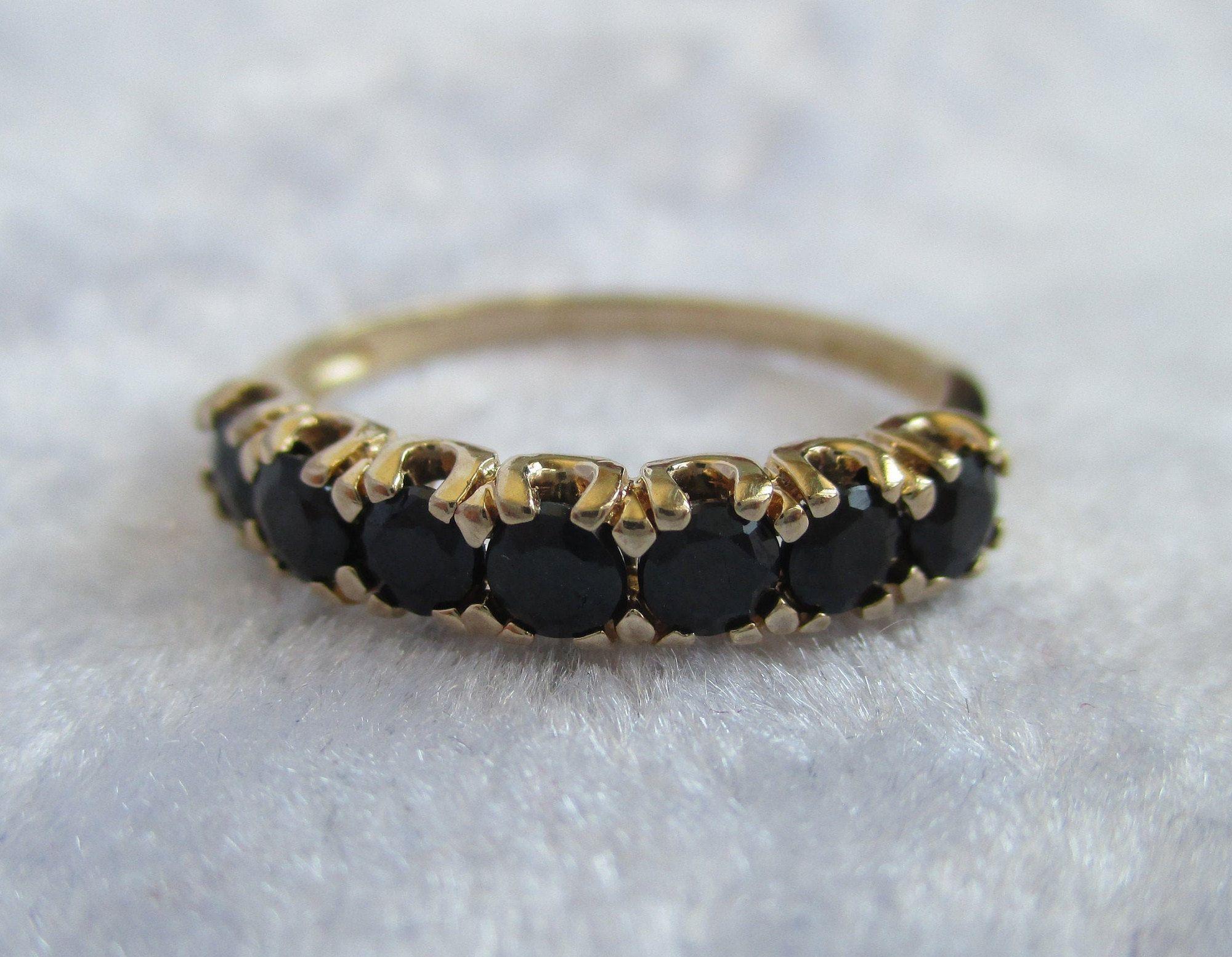 Vintage Sapphire 10k Gold Ring Clyde Dunier 10k Gold Sapphire In 2020 Vintage Sapphire Gold Sapphire Ring 10k Gold Ring