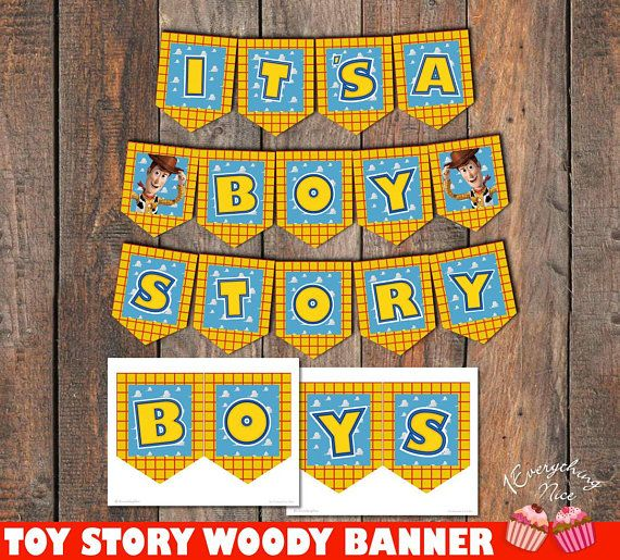DIGITAL DOWNLOAD Toy Story Woody Happy Birthday Banner
