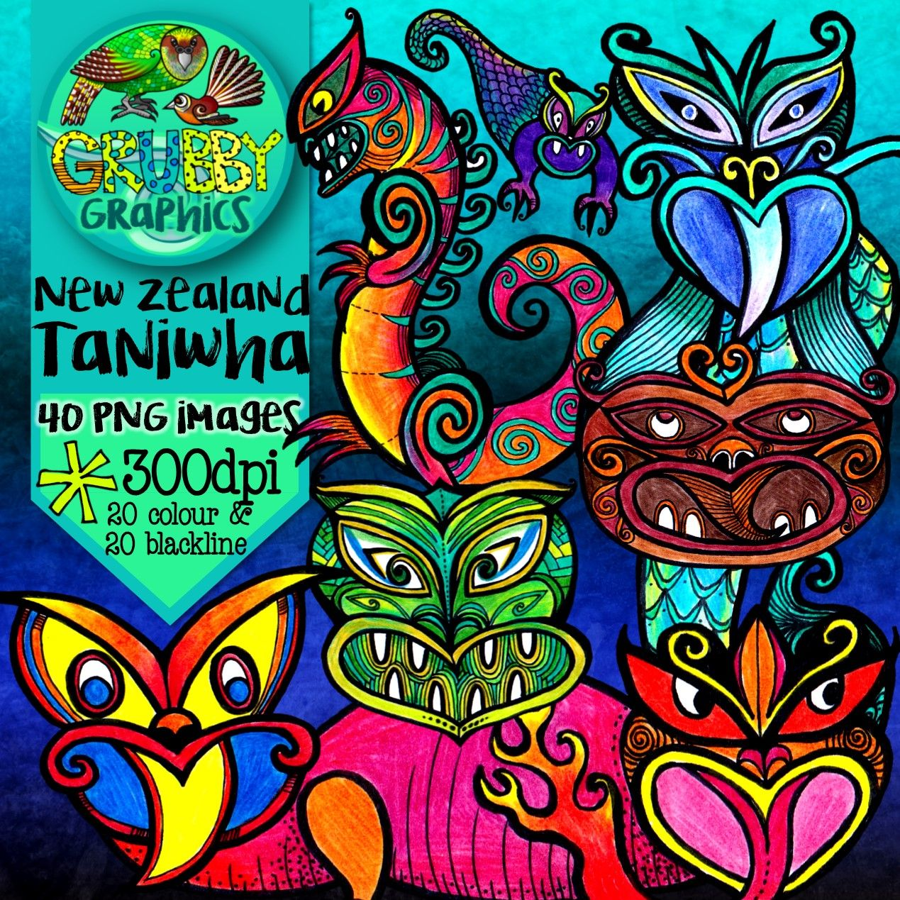 Taniwha Clip Art Mythical Creatures Of New Zealand