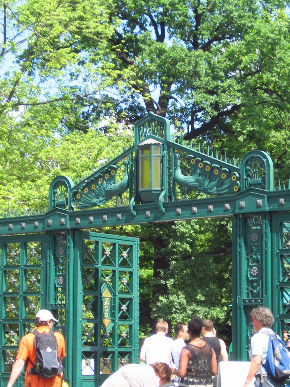 Peacock Gate Entrance To Berlin Zoo Entrance Gates Theme Park Zoo