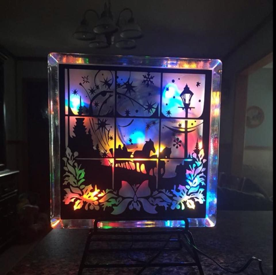 Decorative Glass Block Made By Cissi Anderson Using My