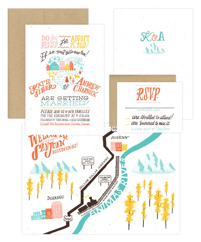 Cute Wedding Invite Wording: Really Cute Wedding Invite Set; Great Type, Fun