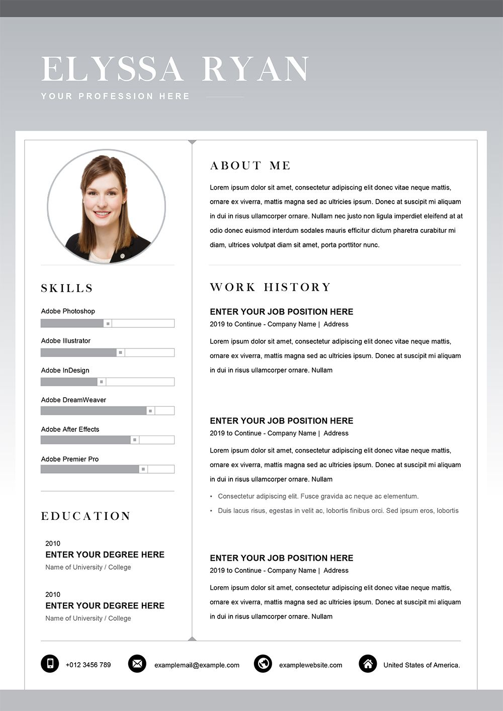 This Resume Template in Word Format is a lever that will