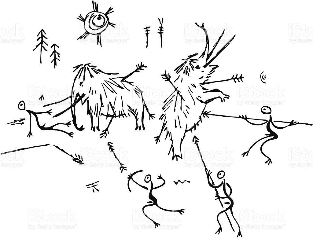 R sultat de recherche d 39 images pour dessins grottes pr historiques pyro pinterest grotte - Coloriage grotte ...