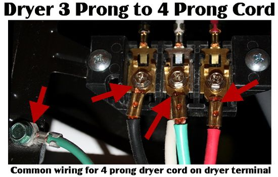 Dryer Power Cord 3 Prong To 4 Prong How To Wire Dryer Outlet Dryer Plug Outlet Adapter