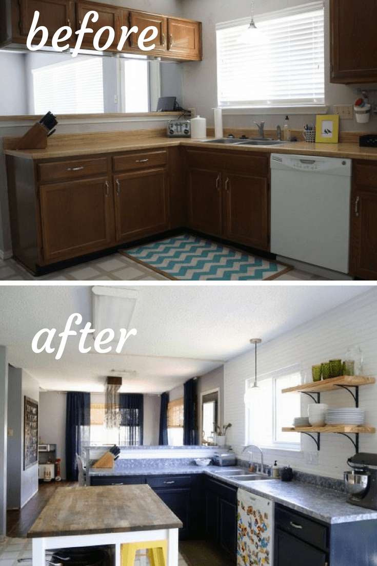 Best Before And After Photos Of A Diy Budget Kitchen Renovation 400 x 300