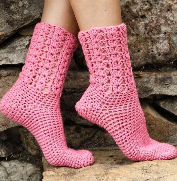 Beautiful+ideas+crochet   Stylish Easy Crochet: Warm Socks - Crochet ...