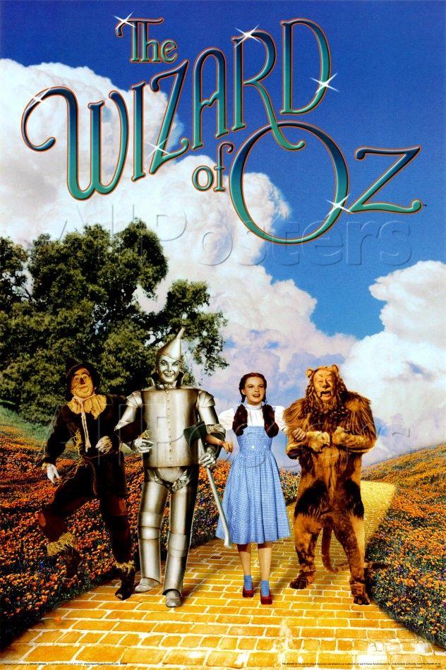 The Wizard Of Oz Com Imagens Cartazes De Filmes Antigos