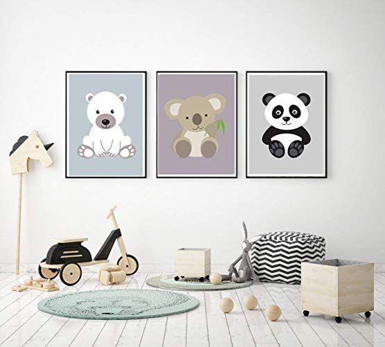 Prints 3er Set Format A3 Bärenbande Koala Panda Eisbär
