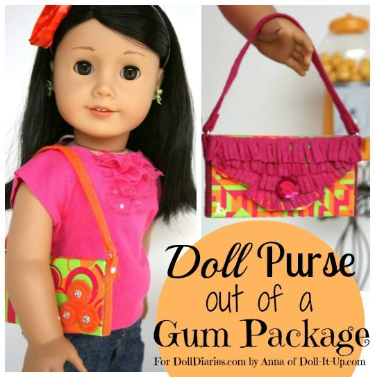 Doll Craft - Make a Doll Purse from a Gum Package