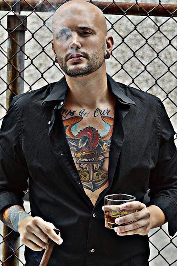 ▷ 1001+ idées   smokin   Pinterest   Men looks, Bald with beard and ... 6e4173065ee