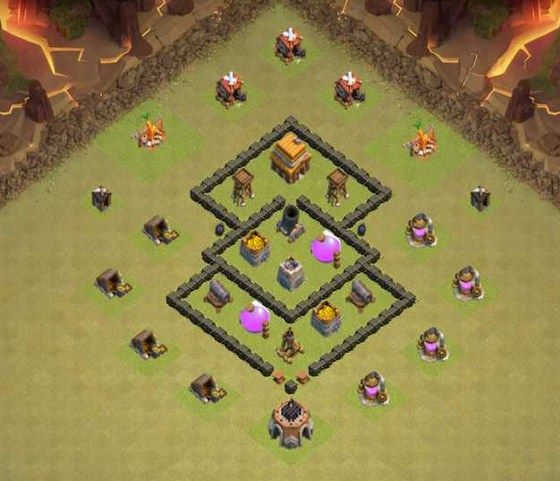 Base Coc Th 4 War Terkuat 8