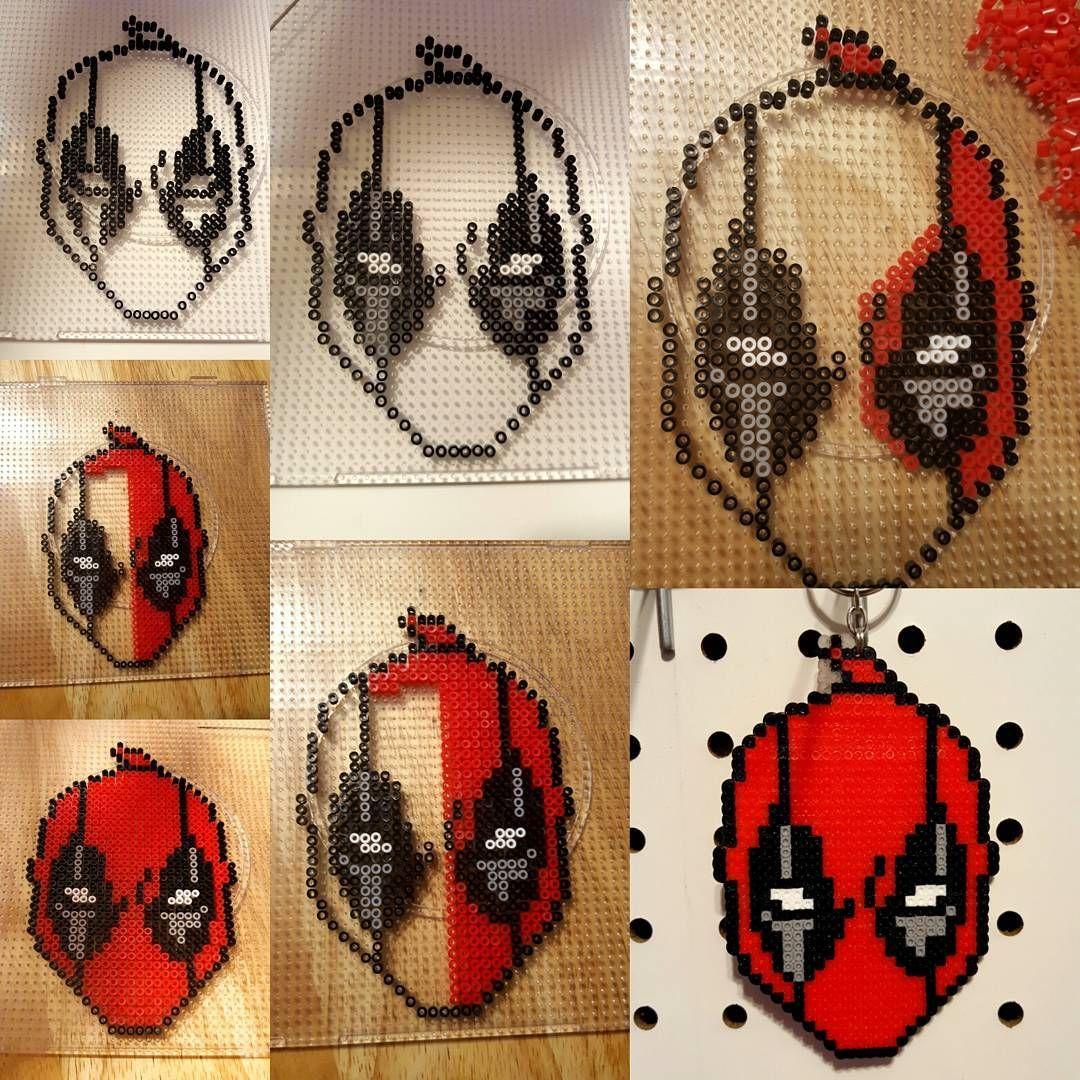 Deadpool Hama Beads Marvel Nerd Geek Perler Beads