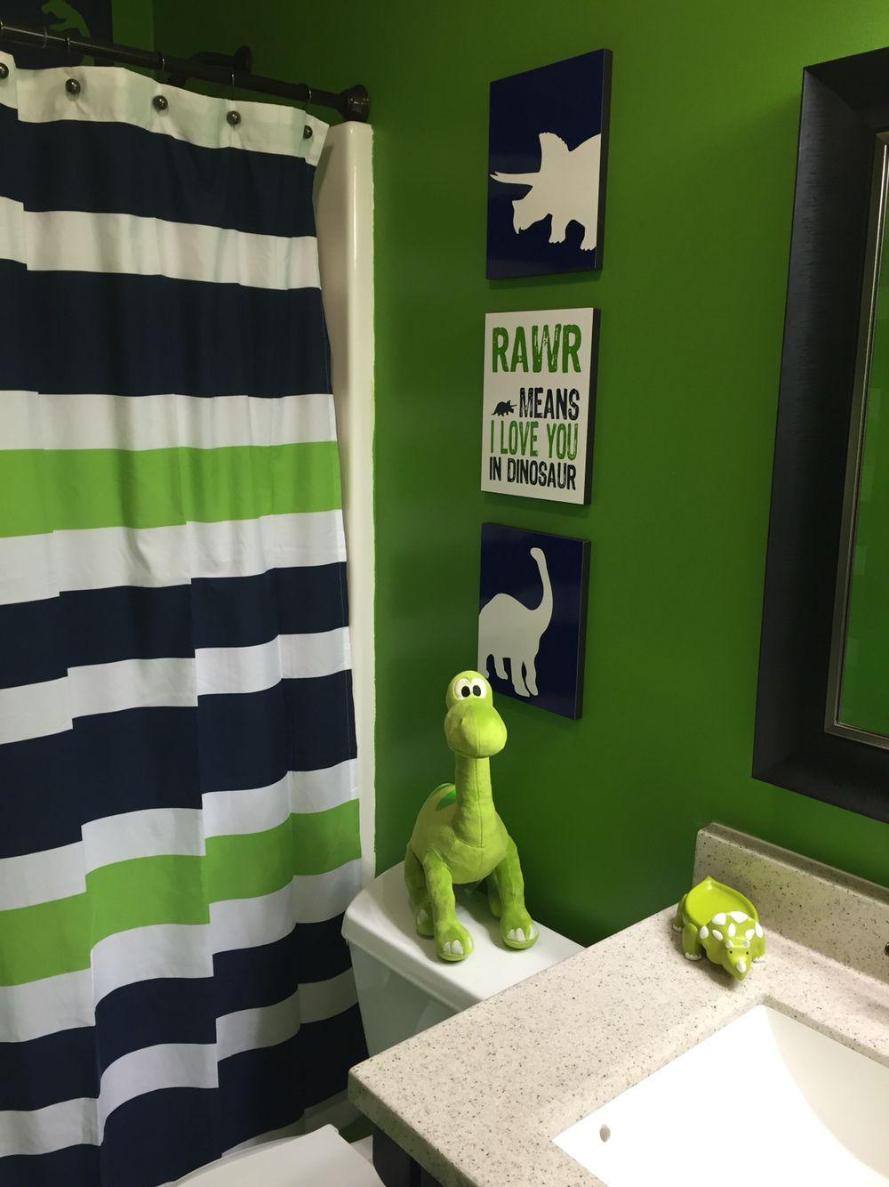 Dinosaur Bathroom Boys Bathroom Decor Kid Bathroom Decor