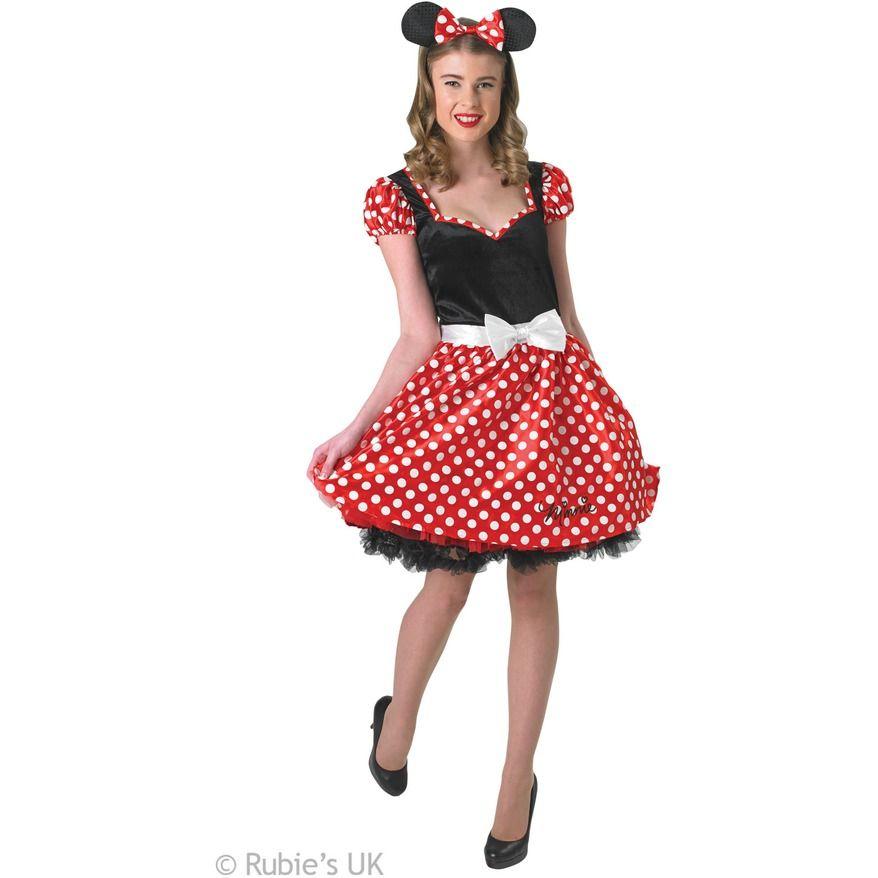 RED BOW MOUSE EARS HEADBAND Fancy Dress Spotted Ladies Kids Girls UK