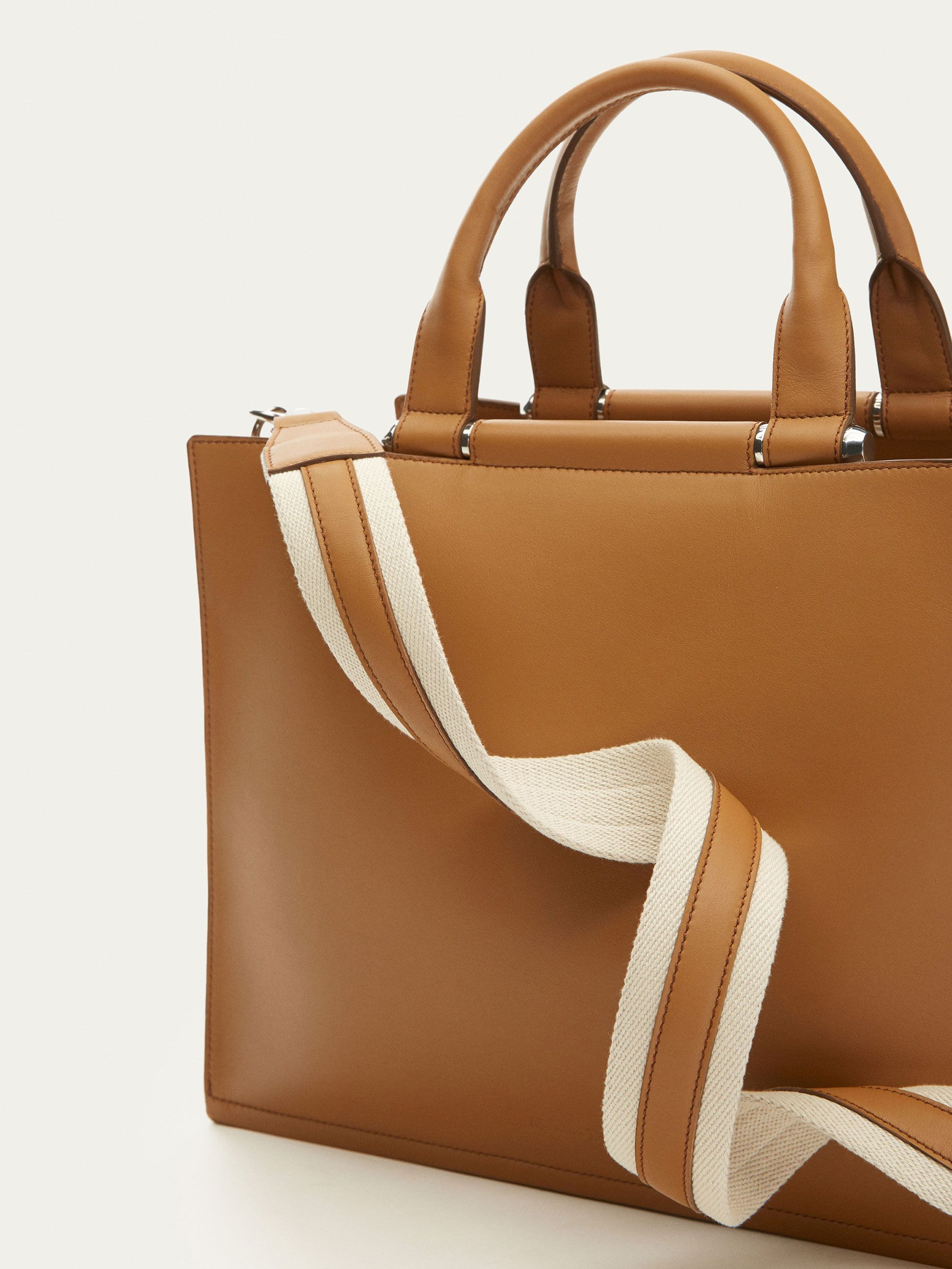 3007ae4f8d Fall Winter 2017 Women´s LEATHER TOTE BAG WITH METAL DETAILS at Massimo  Dutti