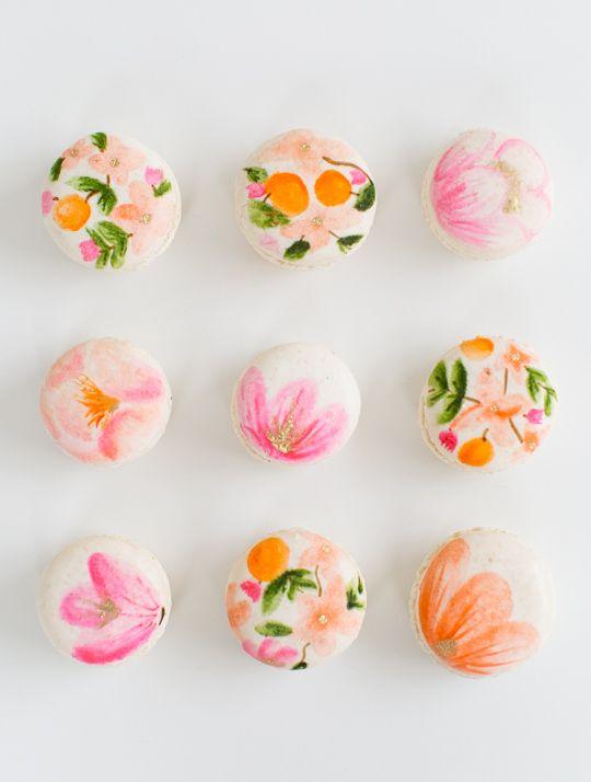 DIY Floral Macarons | Macarons, Sugaring and Macaroons