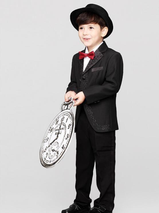 411cf6ebb Suit Formal Wear Vest+Pants+Jacket+TieBoy S Formal Suits By A Flower ...