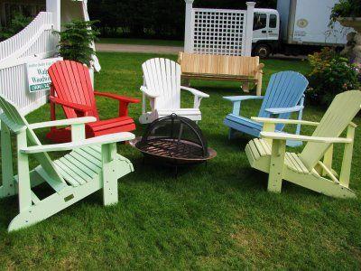 Adirondack Chair Around Fire Pit