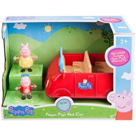 Peppa Pig Peppa S Red Car With 2 Exclusive Figures Walmart Com