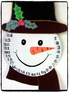 Bricolage de Noël : un calendrier de l'Avent bonhomme de neige -