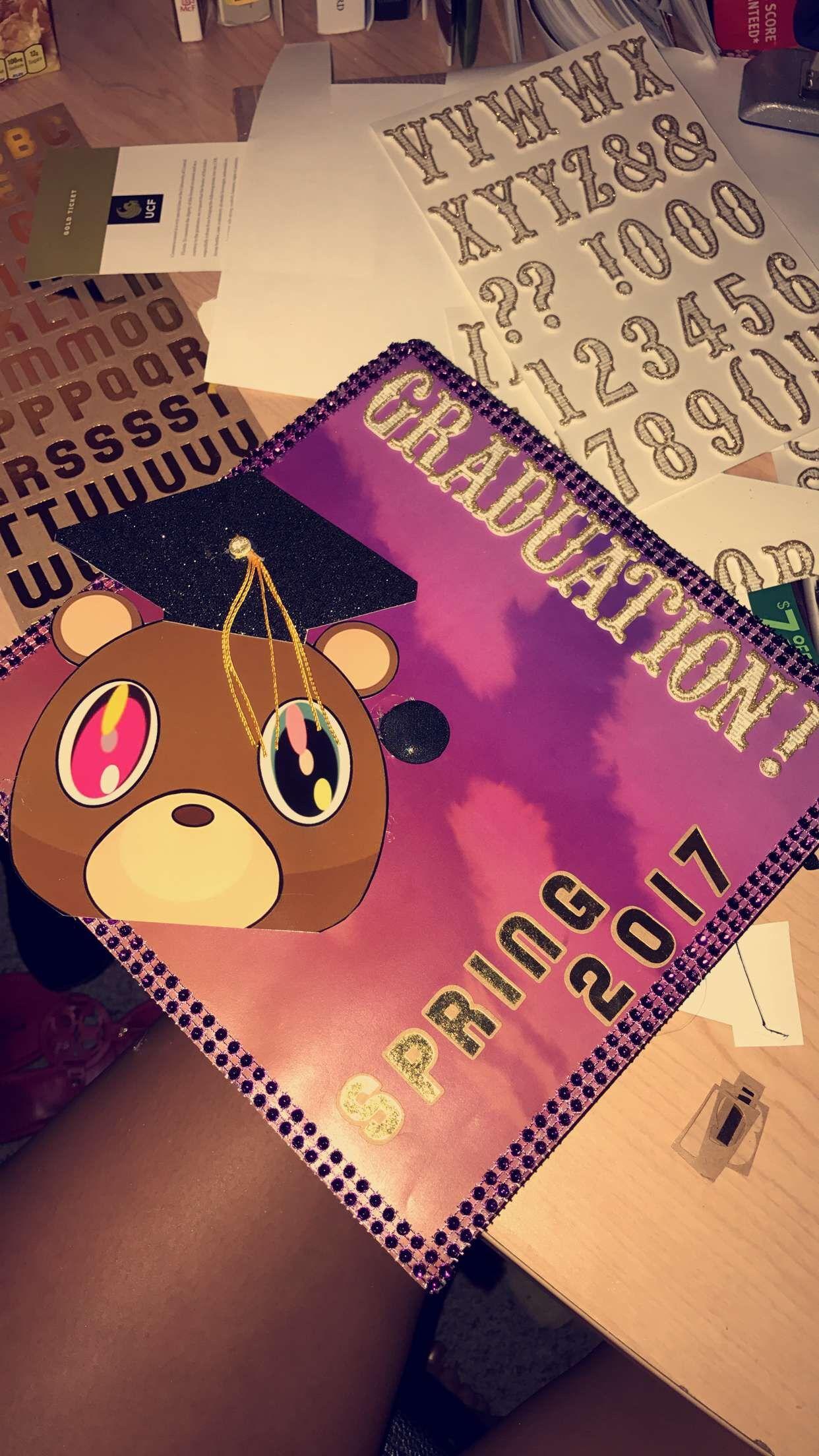Kanye West Graduation Cap High School Graduation Cap Decoration Kanye West Graduation Cap College Grad Cap Ideas