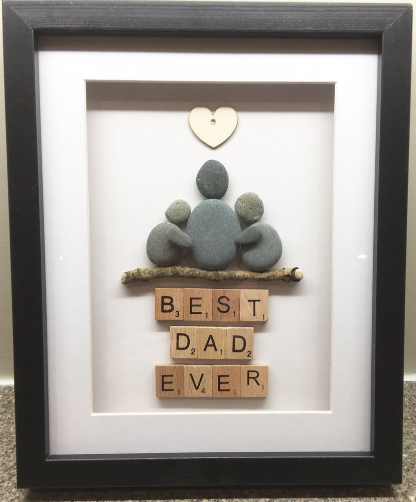 Mothers//Fathers Day Gift New Home New Baby Pebble Art Family Frame Birthday