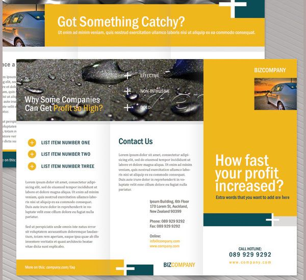 Corporate Brochure Template  Creative Tri Fold Brochure Template