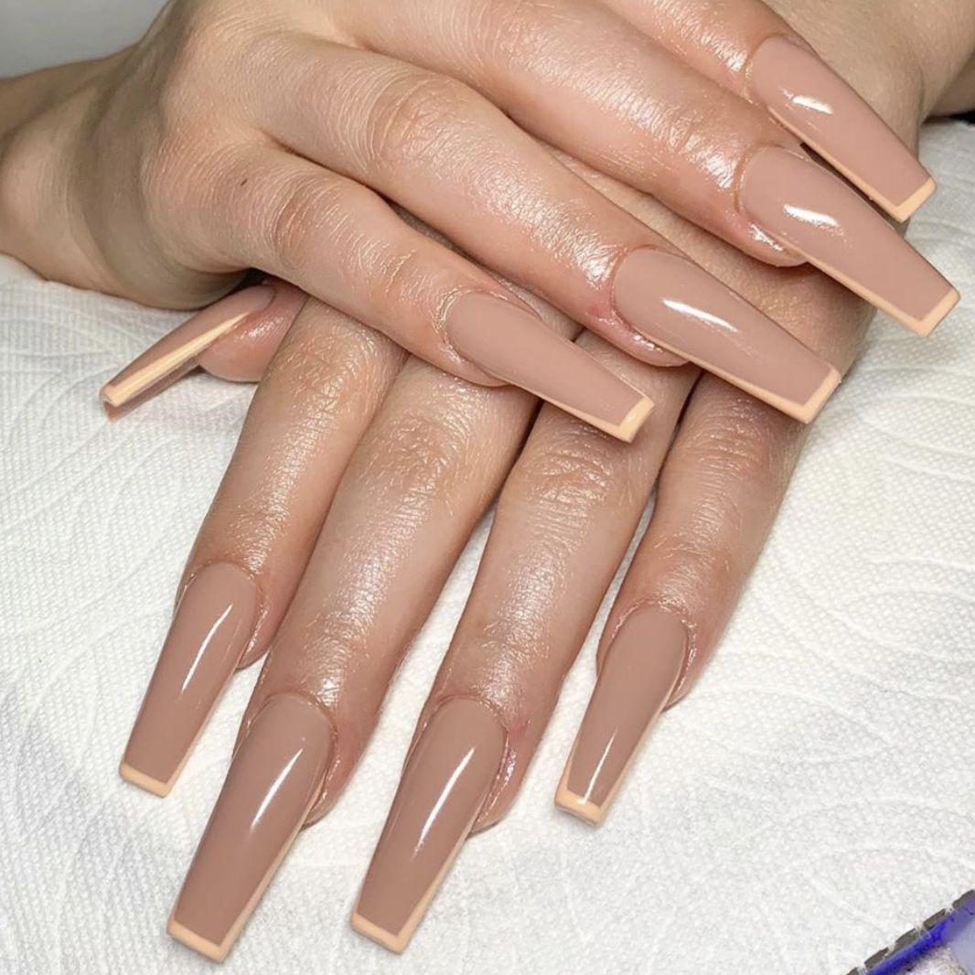 Pin By Estefania Alvarez On Nails Neutral Nails Acrylic Neutral Nails Long Acrylic Nails