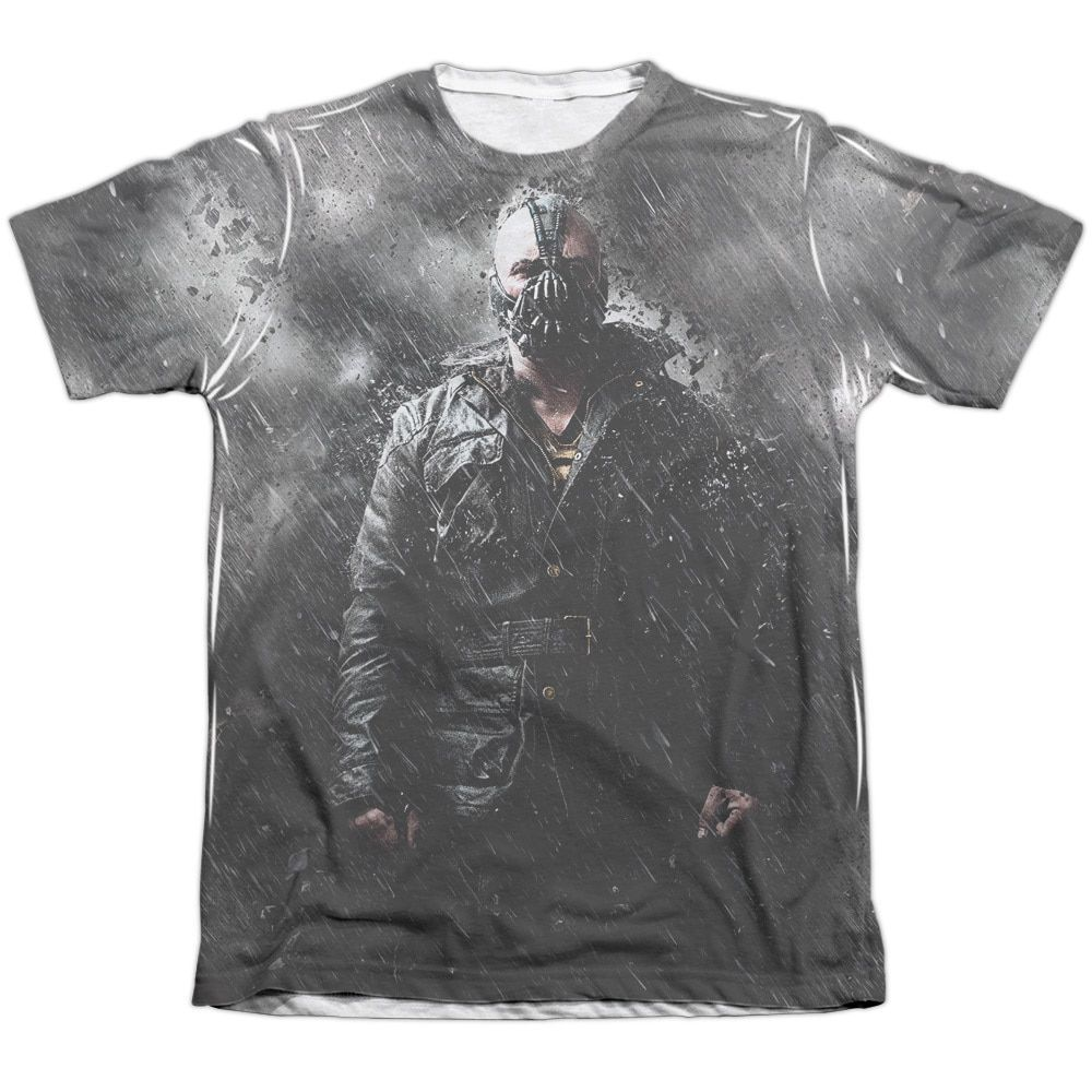 Dark Knight Rises/Bane in Rain Adult Poly/ Short Sleeve Tee in Sublimate