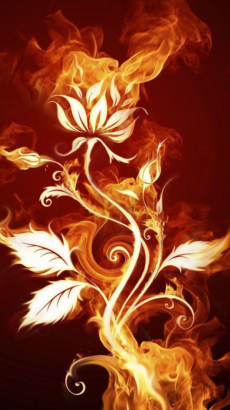 Fire Flower My Wallpaper In 2019 Fire Flower Painting 5d