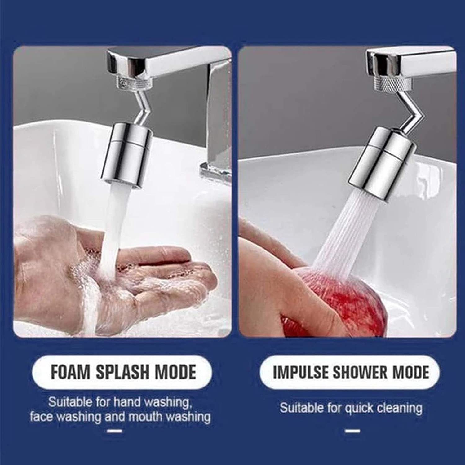 720 Degree Swivel Sink Faucet Aerator for Kitchen Bathroom | Faucet, Sink  faucets, Faucet aerators