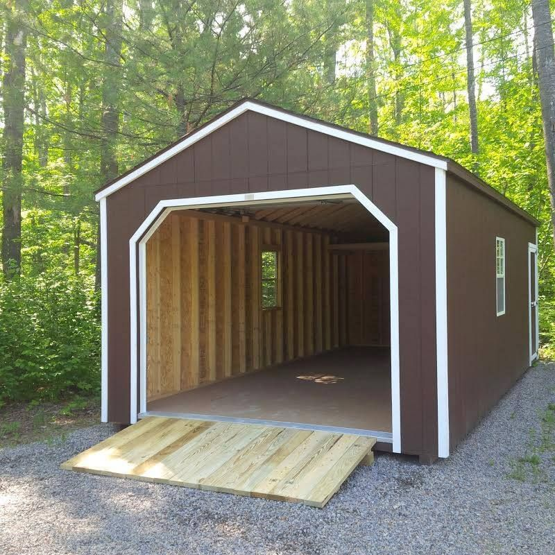 Beautiful 12u0027 X 24u0027 Portable Garage   Prefab Storage Buildings
