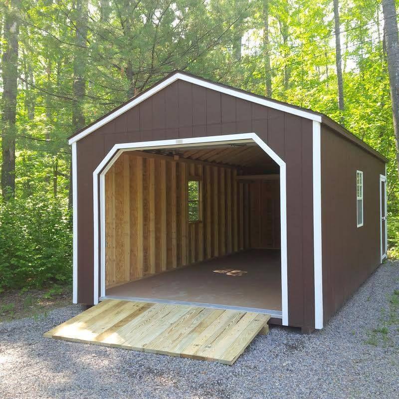 12u0027 X 24u0027 Portable Garage   Prefab Storage Buildings