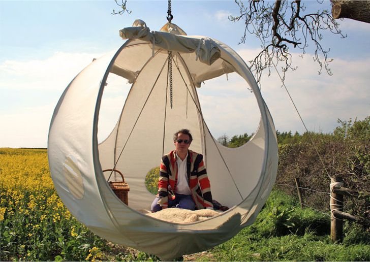 Incredible treehouse tent allows you to go glamping in a tree | Inhabitat - Green Design, Innovation, Architecture, Green Building