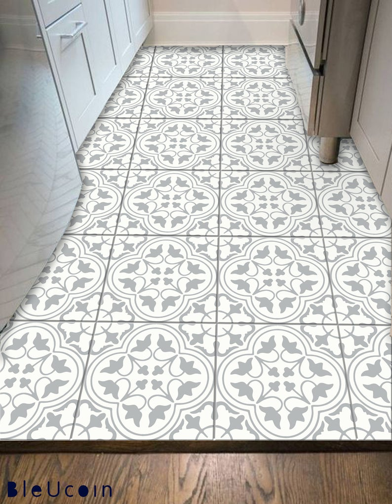 Seville Tile Wall Stair Floor Self Adhesive Vinyl Etsy In 2020 Flooring For Stairs Wall Tiles Flooring