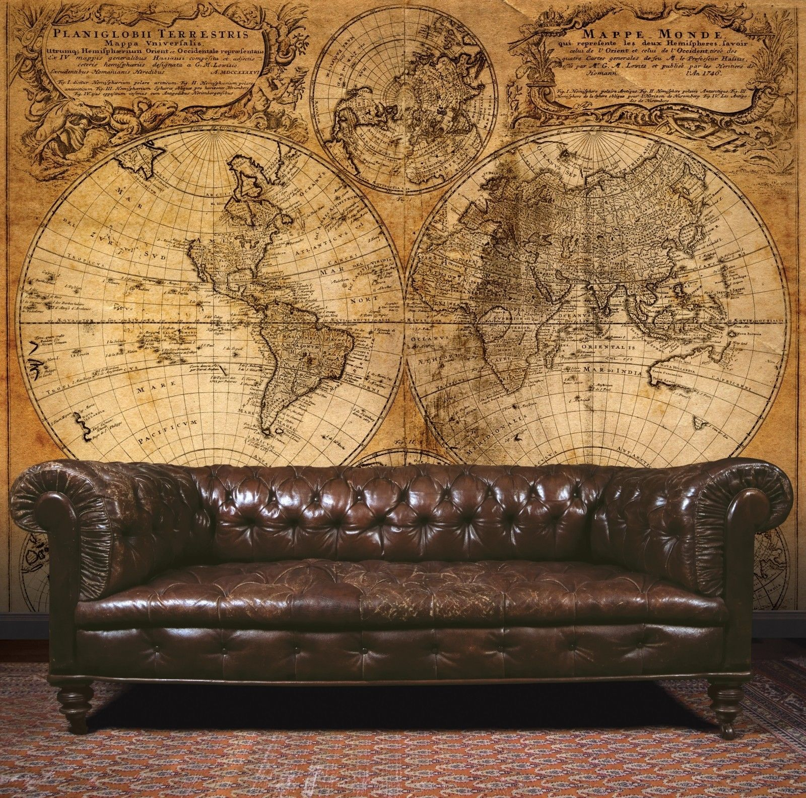 Essener mural wallpaper g45253 steampunk map room wall for Steampunk furniture diy