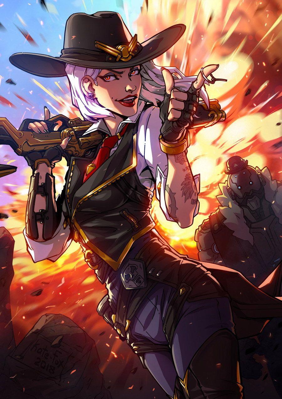 Beautiful fanart of Ashe Overwatch, Overwatch cosplay