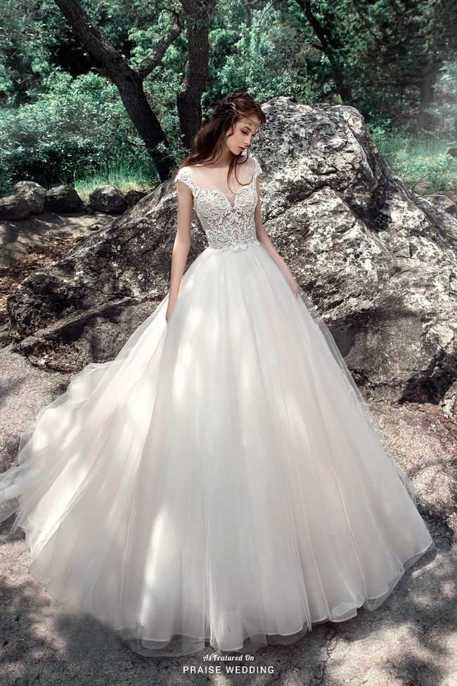 This Whimsical Gown From Milva Adorned With Chic Embroideries Is An Work Of Art Ball Gowns Wedding Bridal Dresses Wedding Dresses