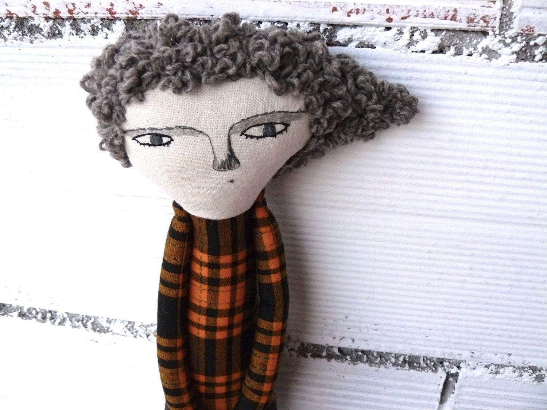 Muñeca Fulgencia de algodón / 52 cm / de AntonAntonThings en Etsy
