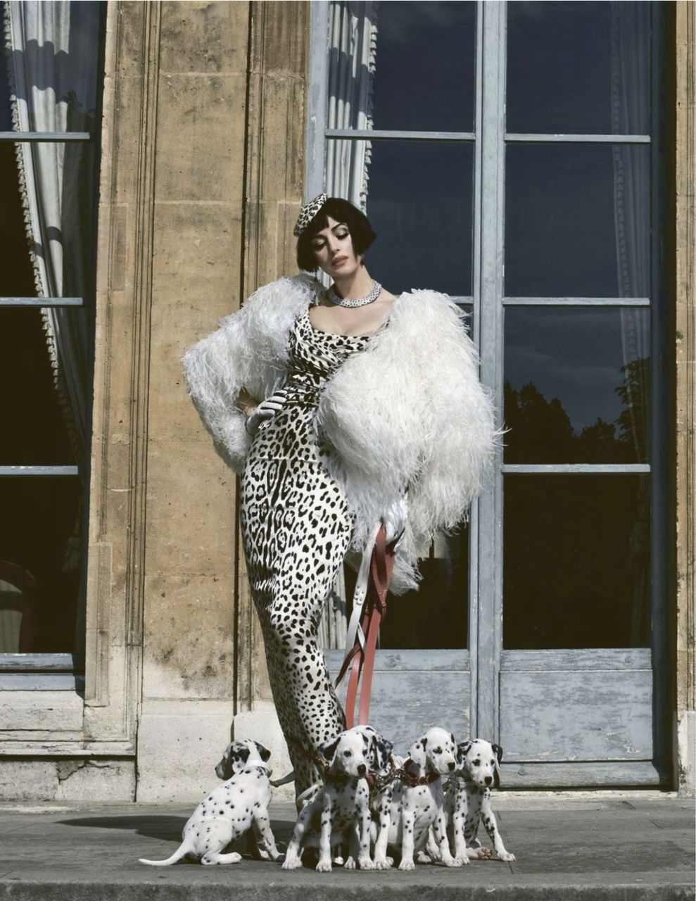 Monica Bellucci photographed by Francesco Escalar for Tatler Russia, December 2011. Channelling Cruella?