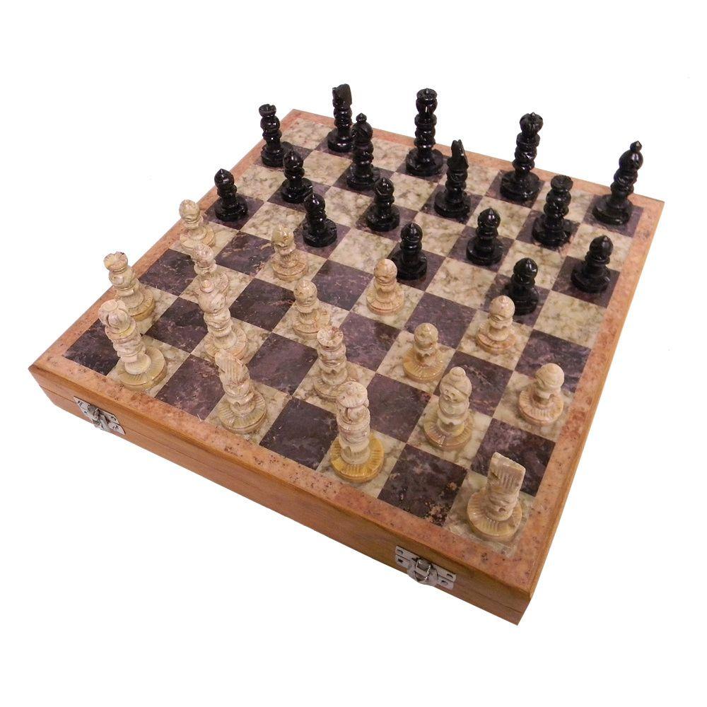 Soapstone Chess Set (India) | Overstock com 12X12