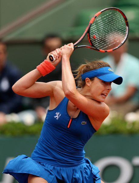 Alize Cornet Photos: 2015 French Open - Day Six